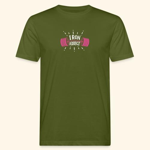 Iron Addict I VSK Funny Gym Shirt - Männer Bio-T-Shirt