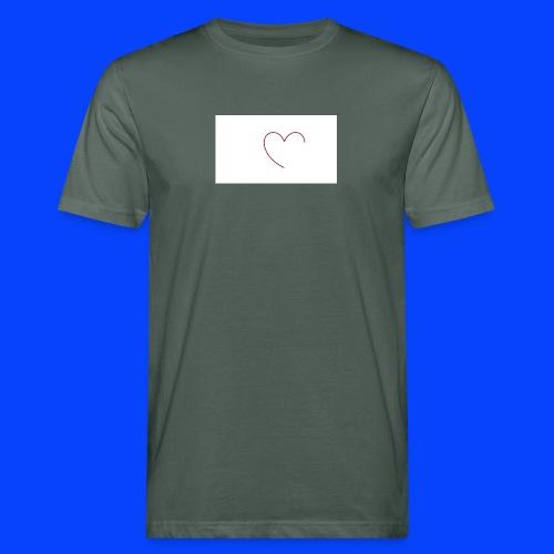 t-shirt bianca con cuore - T-shirt ecologica da uomo
