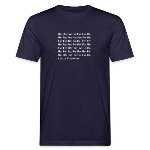 Letzte Korrektur - Männer Bio-T-Shirt