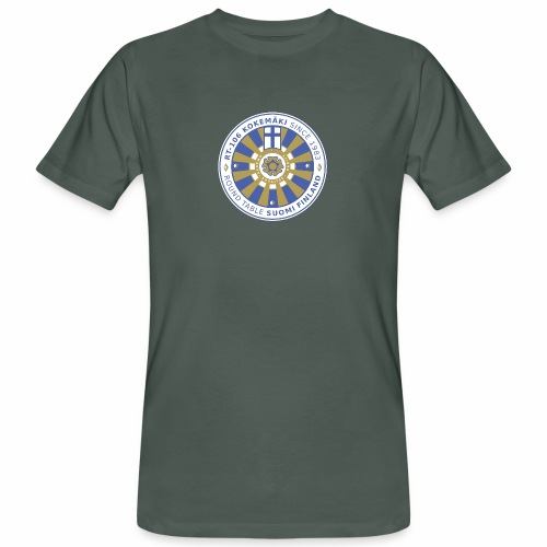 RT106 tummalletaustalle - Miesten luonnonmukainen t-paita