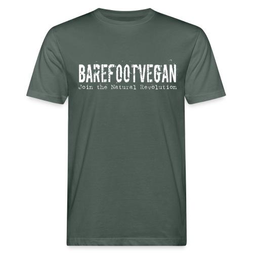 Barefoot Vegan white - Men's Organic T-Shirt