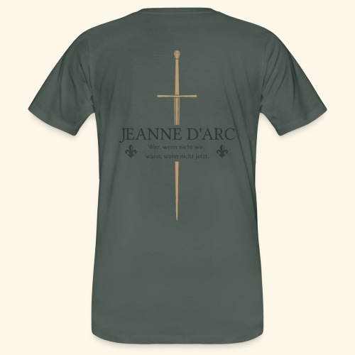 Jeanne d arc dark - Männer Bio-T-Shirt