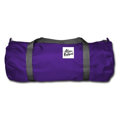 Alice in Nappyland Typography Black 1080 1 - Duffel Bag