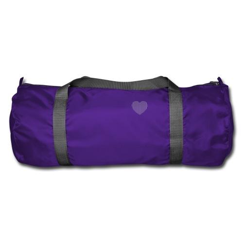 heart_striped.png - Duffel Bag