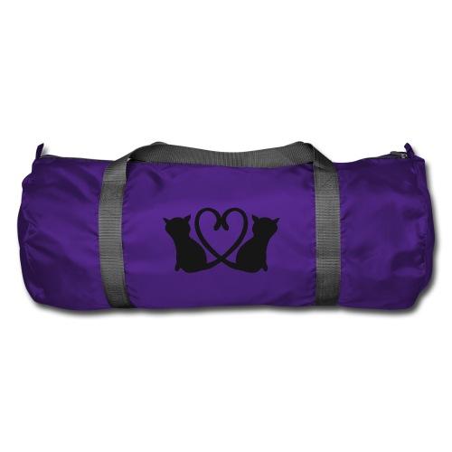 Katzen bilden ein Herz mit ihren Schwänzen - Sporttasche