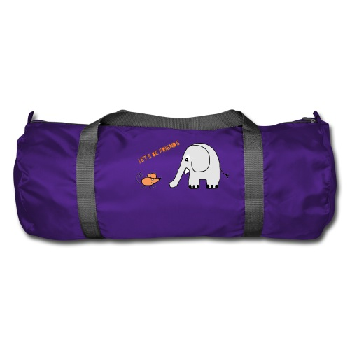 Elephant and mouse, friends - Duffel Bag