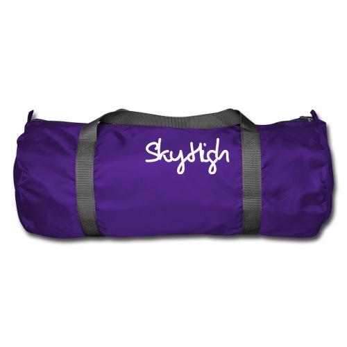 SkyHigh - Men's Premium Hoodie - White Lettering - Duffel Bag