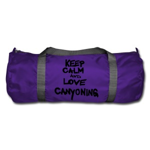 keep calm and love canyoning - Sporttasche