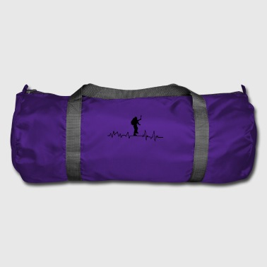 Heartbeat mountaineer t-shirt gift sport - Duffel Bag