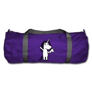 Unicorn with his happy friend - Duffel Bag