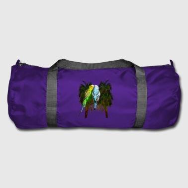 love canaries in palm trees - Duffel Bag