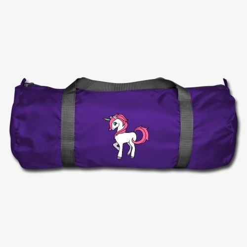 Süsses Einhorn mit rosa Mähne und Regenbogenhorn - Sporttasche