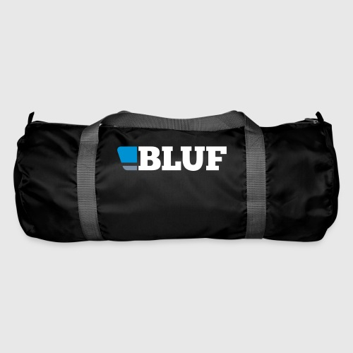 blufwhitetext - Duffel Bag