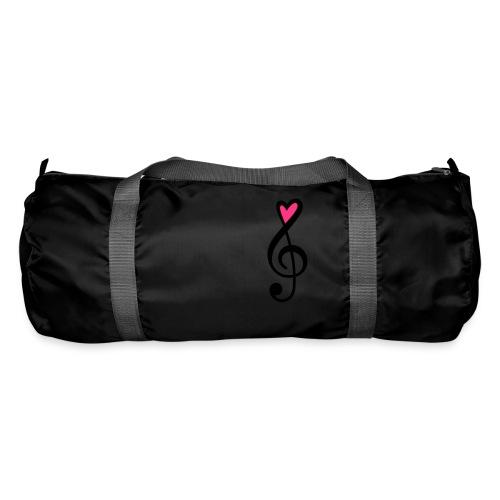 Notenschlüssel Herz rot Musik - Sporttasche