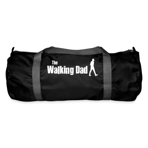 the walking dad white text on black - Duffel Bag