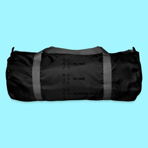 neck back anxiety attack - Duffel Bag