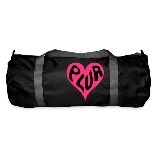 PLUR - Peace Love Unity and Respect love heart - Duffel Bag