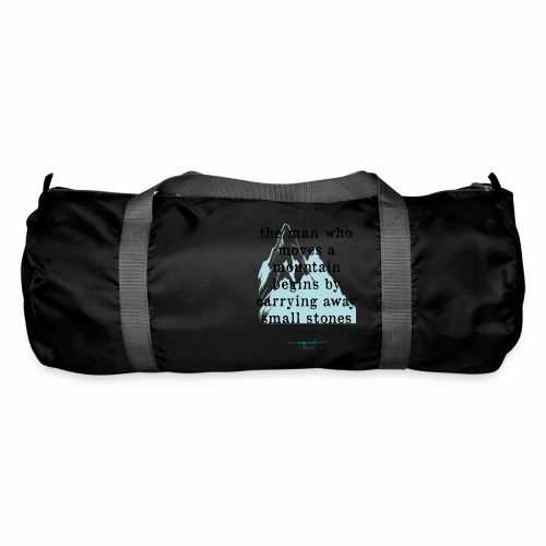 Confucius` Quote - The man who moves a mountain - Duffel Bag