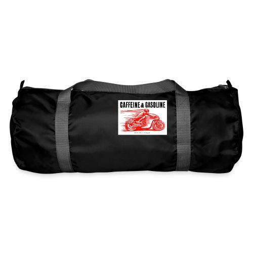 Caffeine & Gasoline black text - Duffel Bag