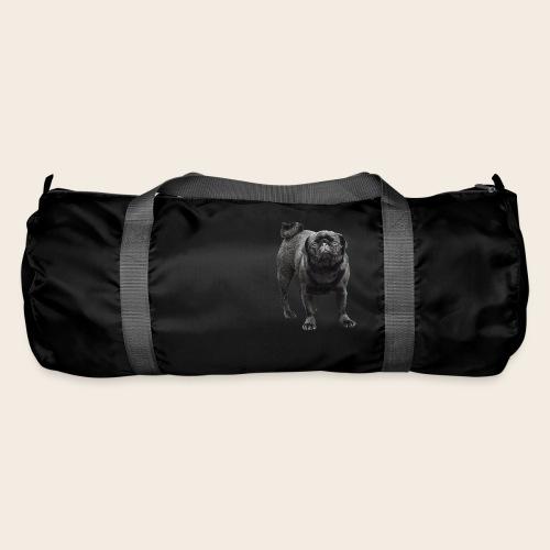 schwarzer Mops - Sporttasche