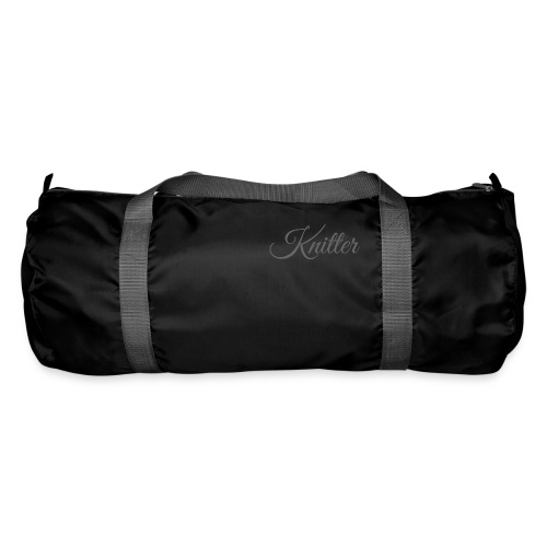 Knitter, dark gray - Duffel Bag