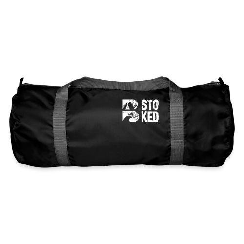 bstoked logo white - Duffel Bag