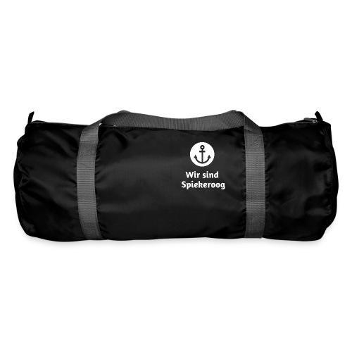 Wir sind Spiekeroog Logo weiss - Sporttasche