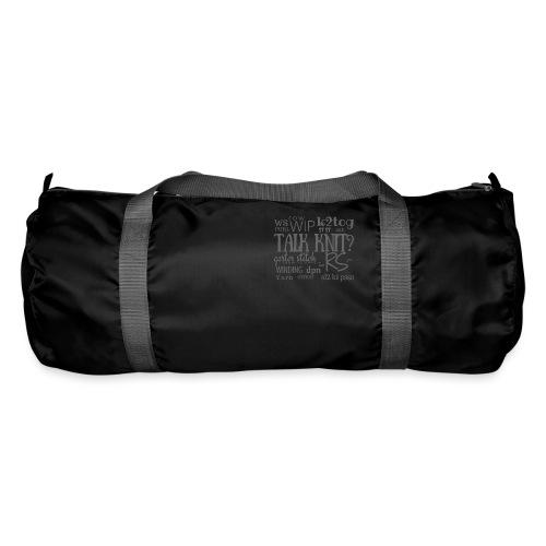 Talk Knit ?, gray - Duffel Bag