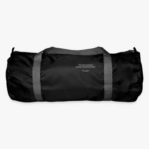 Screwing Up A Knock Knock Joke - Duffel Bag