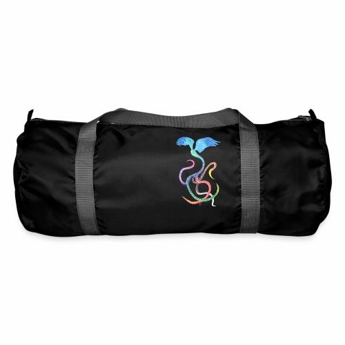 Graceful - Rainbow Bird in Ink - Duffel Bag