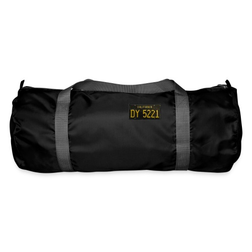CALIFORNIA BLACK LICENCE PLATE - Duffel Bag