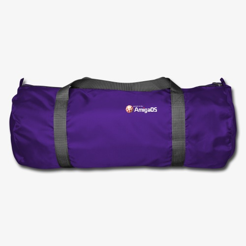 PoweredByAmigaOS white - Duffel Bag