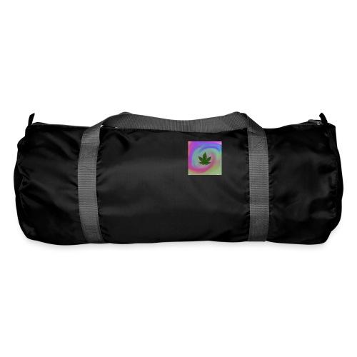 Hanfblatt auf bunten Hintergrund - Sporttasche