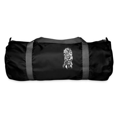 Samurai / White - Abstract Tatoo - Duffel Bag