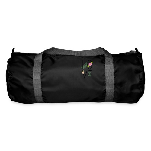 Love Sign with flowers - Duffel Bag