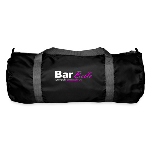 projectstrength.co - barbelle logo - white/pink - Duffel Bag