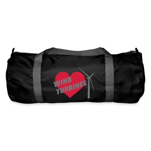 wind turbine grey - Duffel Bag