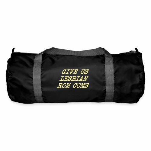 Give Us Lesbian Rom Coms - yellow - Duffel Bag