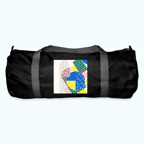 Retro Vintage Shapes Abstract - Duffel Bag