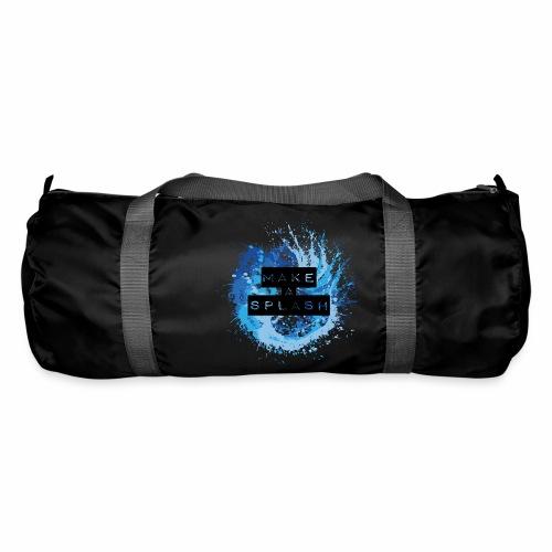 Make a Splash - Aquarell Design in Blau - Sporttasche