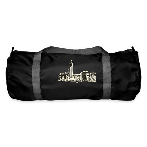 Helsinki railway station pattern trasparent beige - Duffel Bag