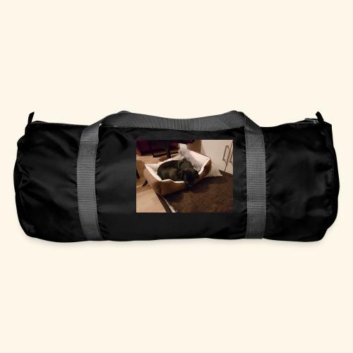 Hund im Hundekörbchen - Sporttasche