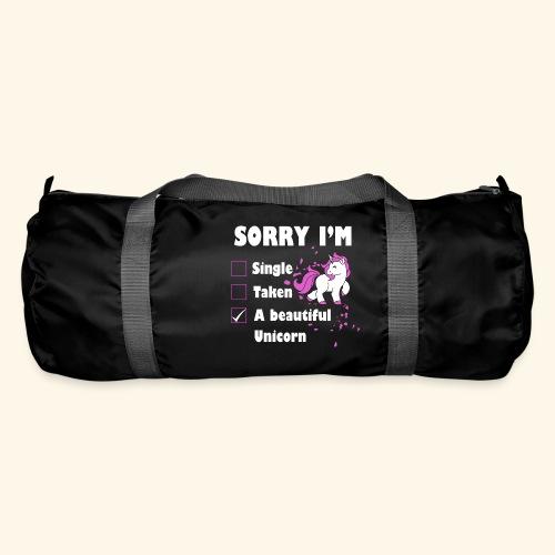 lustiges Beziehung Einhorn T-Shirt - Sporttasche