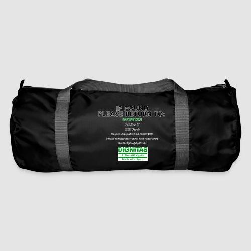 Dignitas - If found please return joke design - Duffel Bag