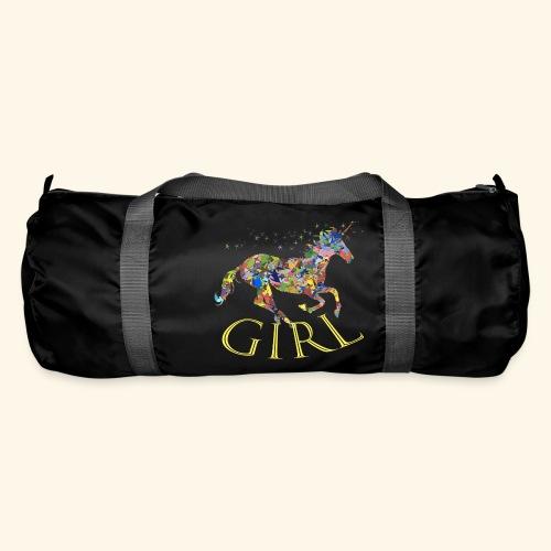 unicorn girl T-shirt - Borsa sportiva