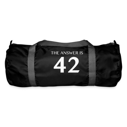 The Answer is 42 White - Duffel Bag