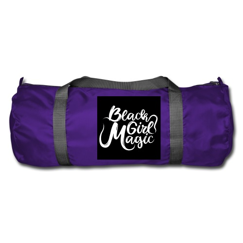 Black Girl Magic 1 White Text - Duffel Bag