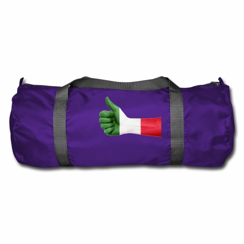 Italienische Flagge auf Daum - Sporttasche