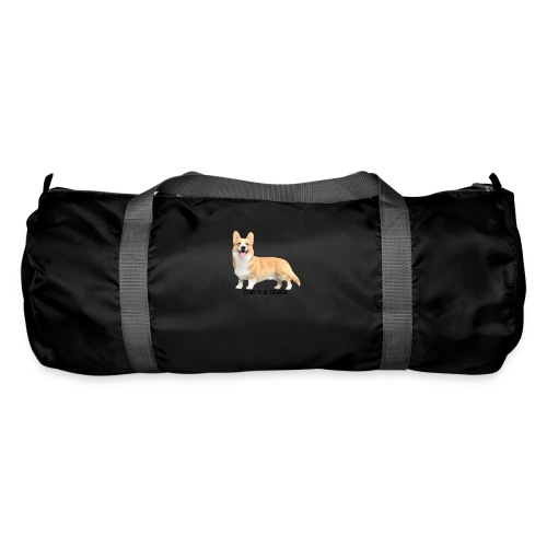 Topi the Corgi - Black text - Duffel Bag