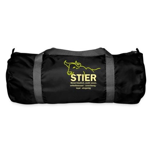 Stier Strich Gruen Text Gelb - Sporttasche